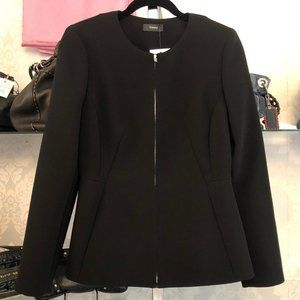 "THEORY Blk Double Crepe Style# K0109101 ""Sculpture"" Blazer/Jacket"